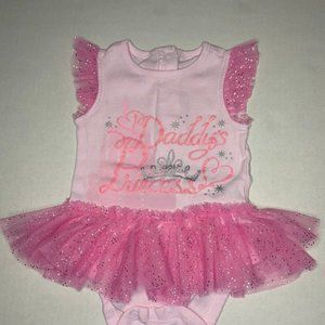 Disney baby Daddy's Princess baby girl onesie